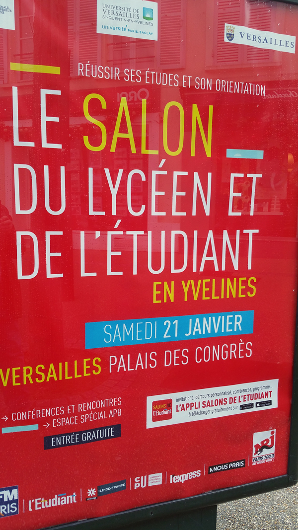 Le salon du lycéen et de l'étudiant à Versailles