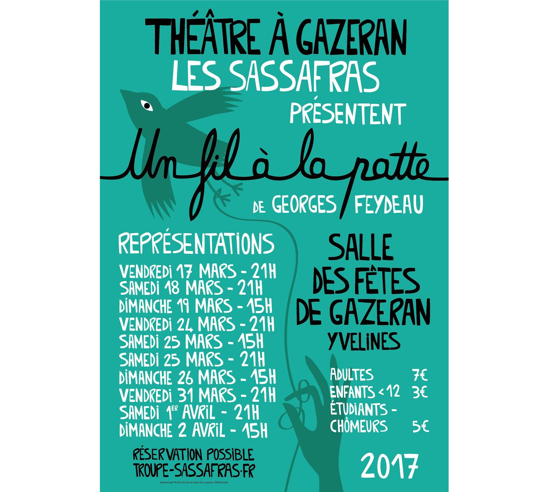 Théâtre à Gazeran : un fil à la patte