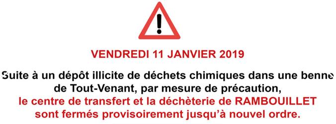 Actualités Rambouillet - Information SICTOM Rambouillet le vendredi 11 janvier 2018