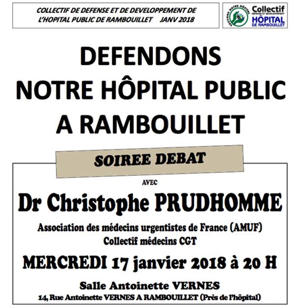 Soirée débat: défendons notre Hôpital public à Rambouillet