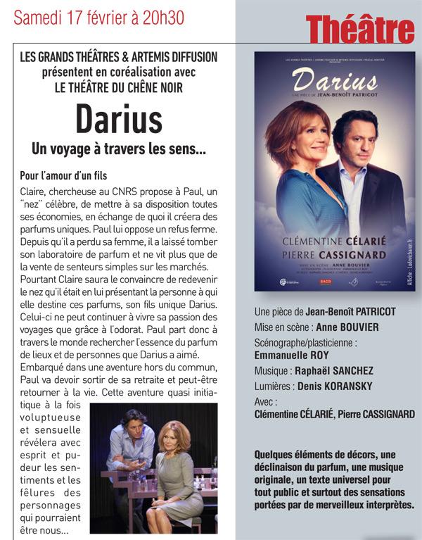 Théâtre à Epernon : Darius, un voyage à travers les sens ....