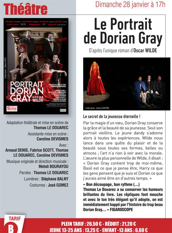 Théâtre aux Prairiales à Epernon : Le Portrait de Dorian Gray