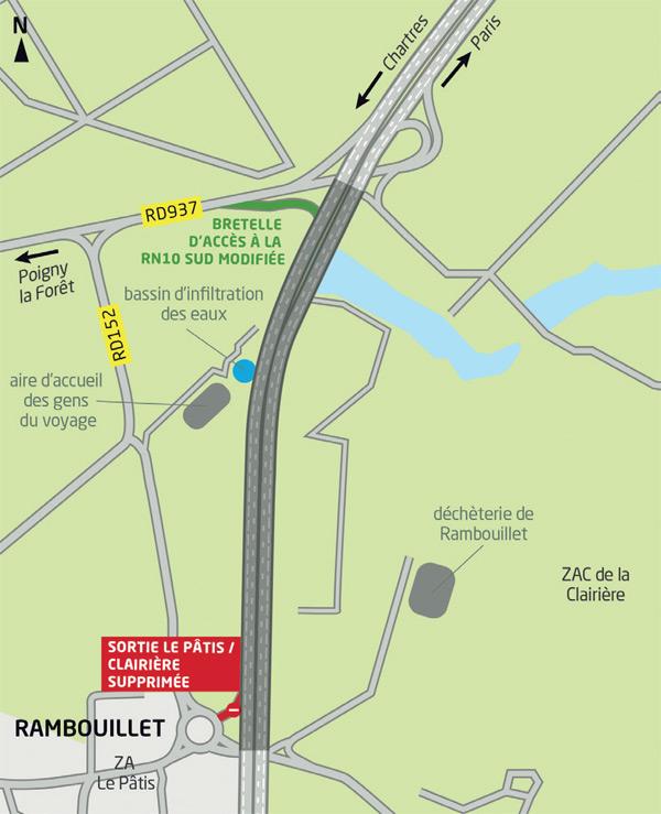 Aménagement de la RN10 à hauteur de Rambouillet