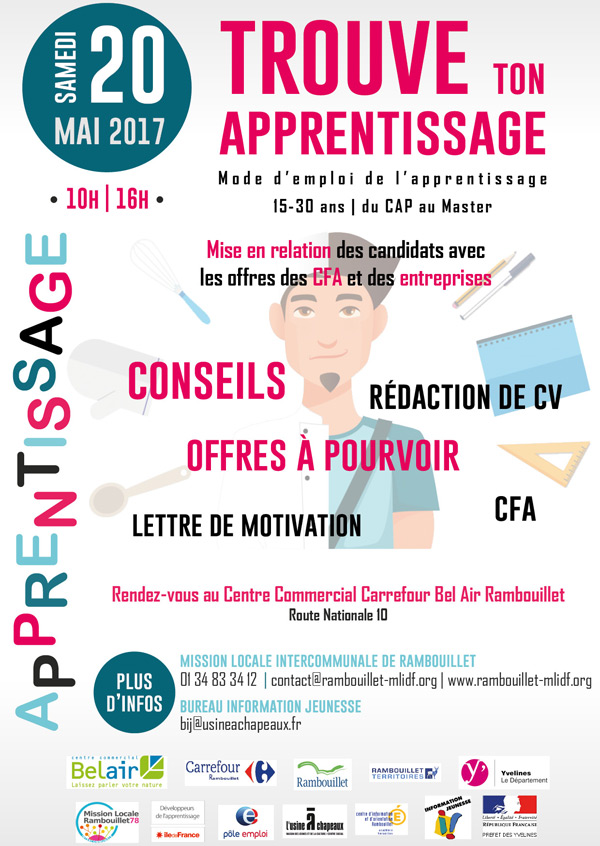 trouve ton apprentissage  au centre commercial carrefour