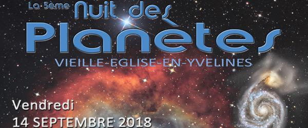 Actualités Rambouillet - La 5ème nuit des planètes à Vieille-Eglise-en-Yvelines le 14 septembre 2018