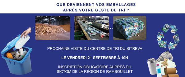 Actualités Rambouillet - Visite du centre de tri du Sitreva, le vendredi 21 septembre 2018 à 10h