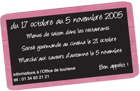 Quinzaine gastronomique d automne de rambouillet - Office de tourisme de rambouillet ...